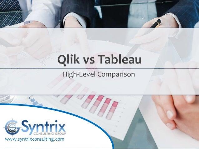Qlik vs  Tableau: High-Level Comparison