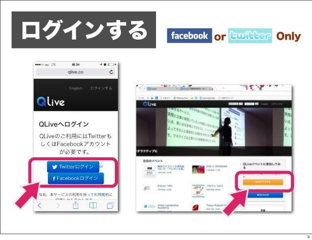 QLiveの使い方 Slide 3