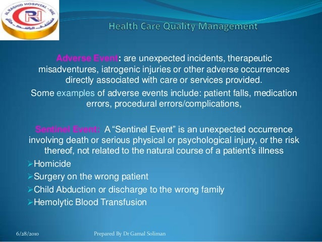 sentinel event child abduction Adverse events, including sentinel events, require comprehensive review to improve patient safety and reduce healthcare errors root cause analysis (rca) provides an evidence-based structure for methodical investigation and comprehensive review of an event enabling appropriate identification of.