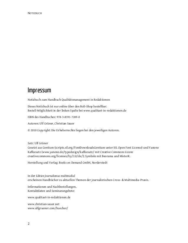 Notizbuch Qualitaetsmanagement in Redaktionen Slide 3