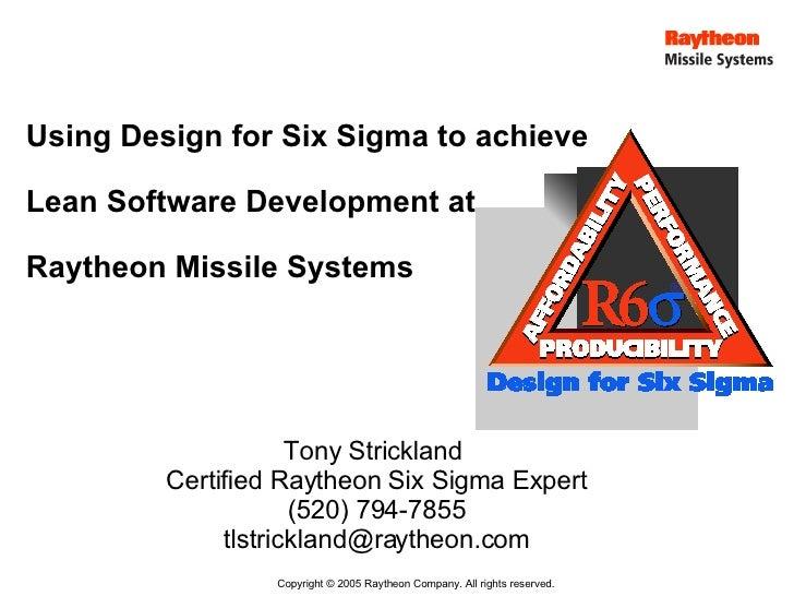 Qm 007 Design For 6 Sigma
