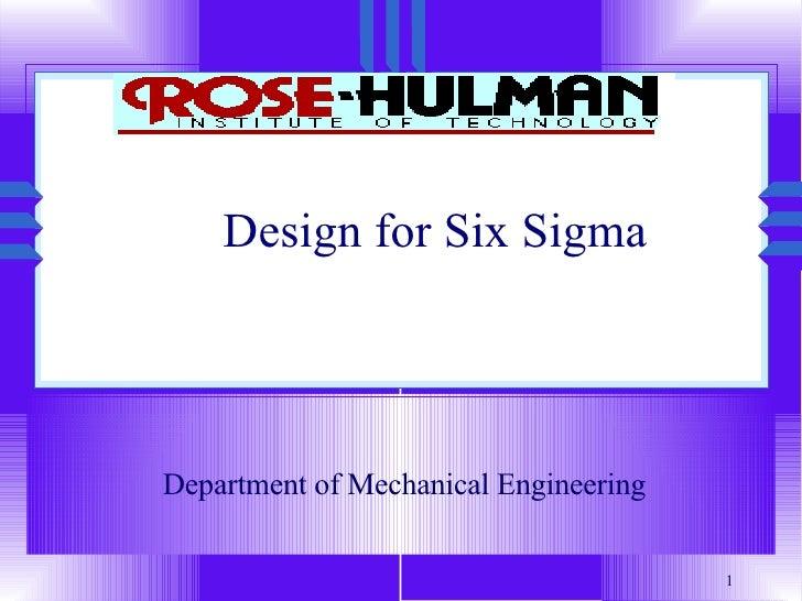 QM-008-Design for Six Sigma 1