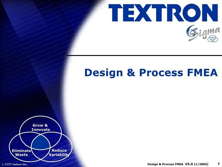 Design & Process FMEA