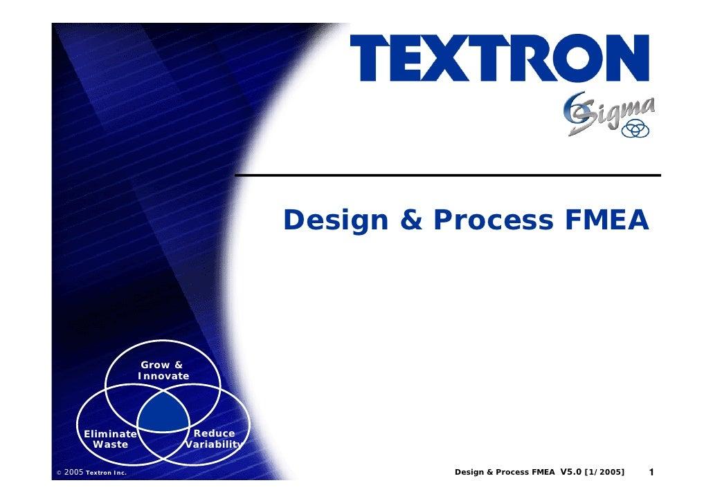 Design & Process FMEA                             Grow &                         Innovate              Eliminate          ...