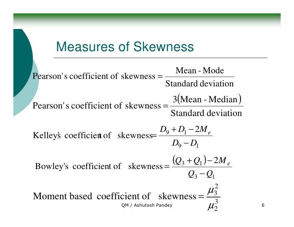 how to talk about the skewness of data