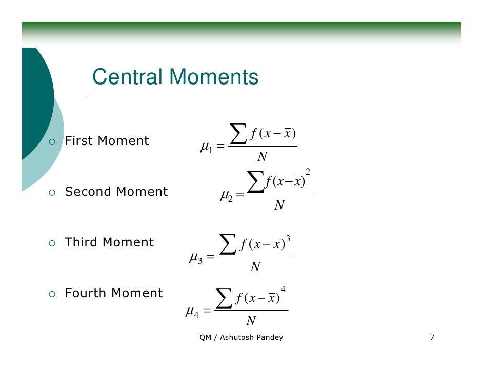 moments skewness and kurtosis in statistics pdf