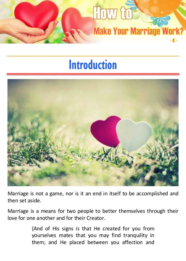 making a corporate marriage work Building a strong marriage and keeping your love alive requires work fairchild, mary (2017, january 5) 5 steps to building a strong christian marriage.