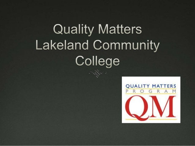What is Quality?  How to we determine Quality?  Feedback and Assessment  How do we influence Quality?  Preparation & P...