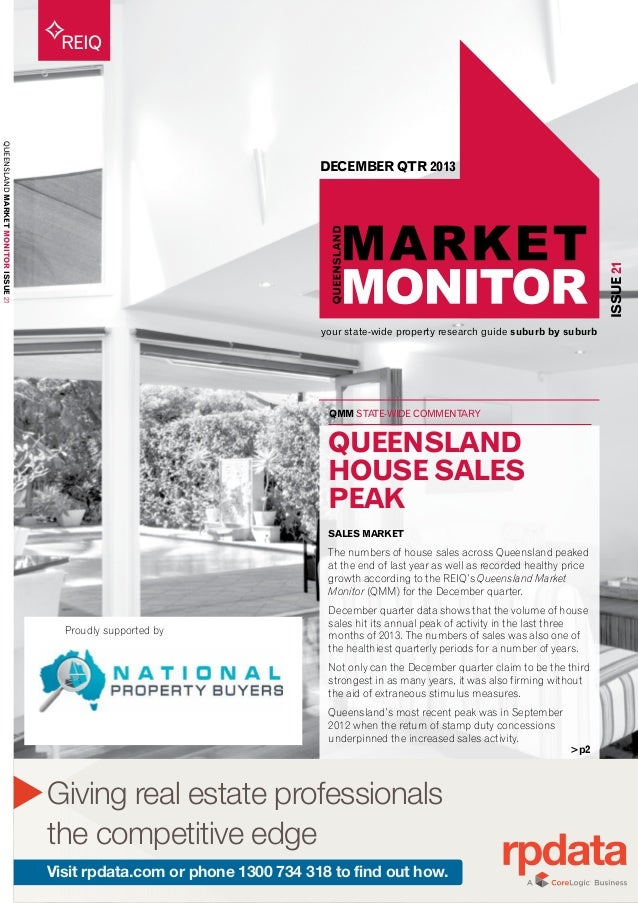 your state-wide property research guide suburb by suburb REIQ QMM STATE-WIDE COMMENTARY ISSUE21 QUEENSLANDMARKETMONITORISS...