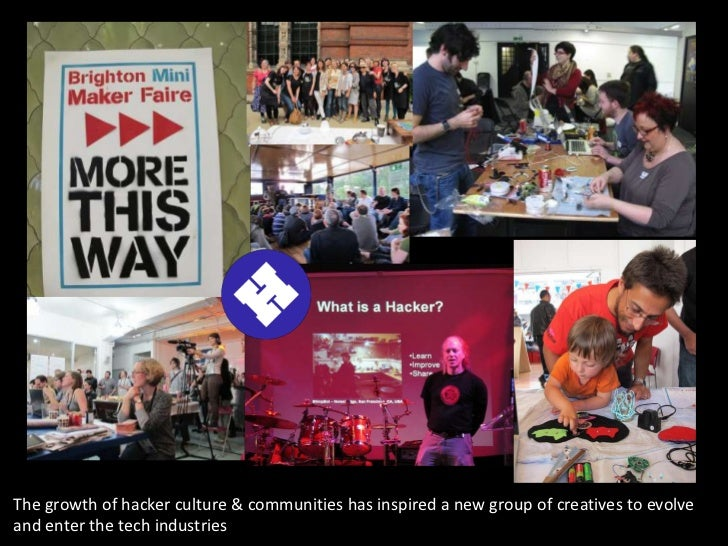 The growth of hacker culture & communities has inspired a new group of creatives to evolveand enter the tech industries