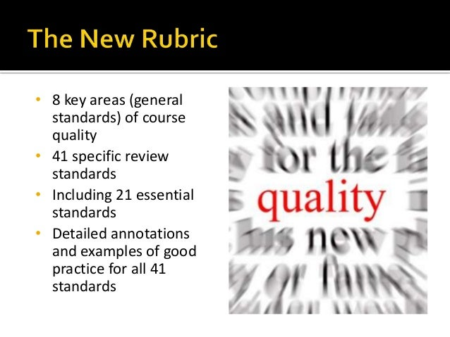 Quality Matters in Your Course