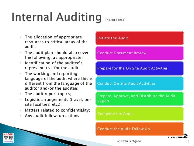 internal audit and review reports