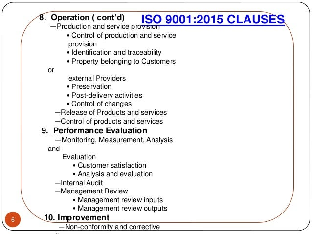 iso 9001 2015 clauses pdf