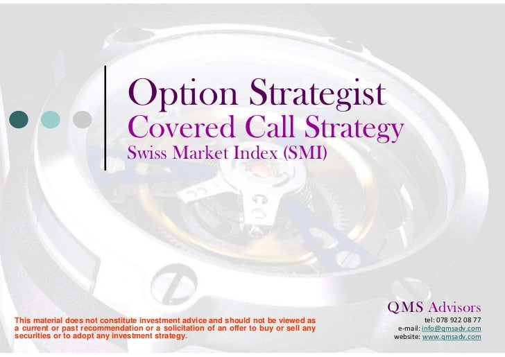 Option Strategist                              Covered Call Strategy                              Euro Stoxx 50 Index     ...