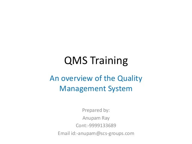 Quality Management System awareness for all