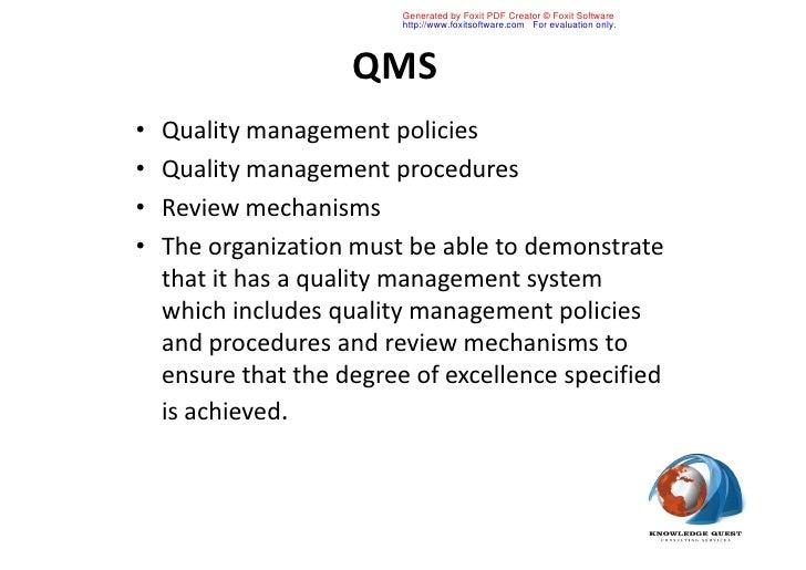 Quality management pdf 2012 form