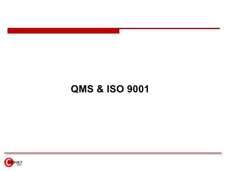 QMS & ISO 9001