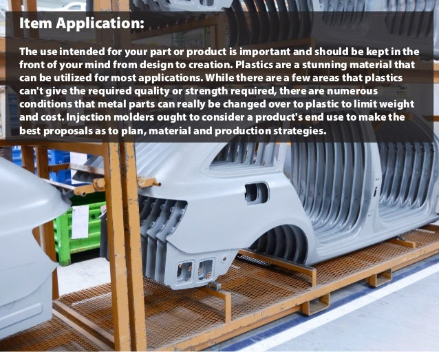 Item Application: The use intended for your part or product is important and should be kept in the front of your mind from...