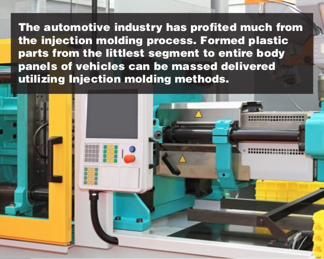 The automotive industry has profited much from the injection molding process. Formed plastic parts from the littlest segme...