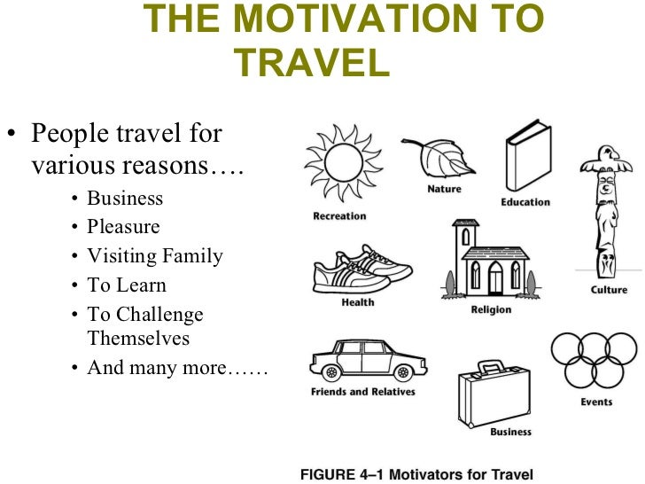 what motivates tourists to travel essay Understanding travel motivations of chinese tourists visiting cairns, australia yahua zhang a, , yiqian peng b,1 a school of commerce, university of southern.
