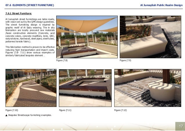 Furniture Design Guidelines jumayliah public realm design report
