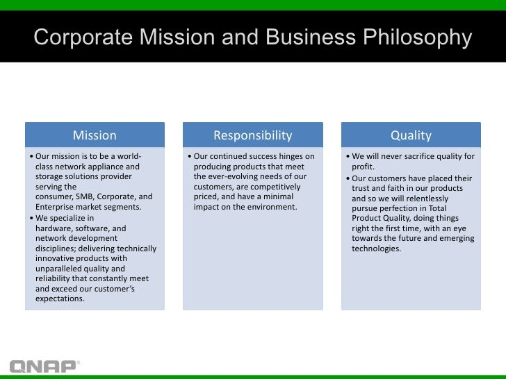 Corporate Mission and Business Philosophy            Mission                           Responsibility                     ...
