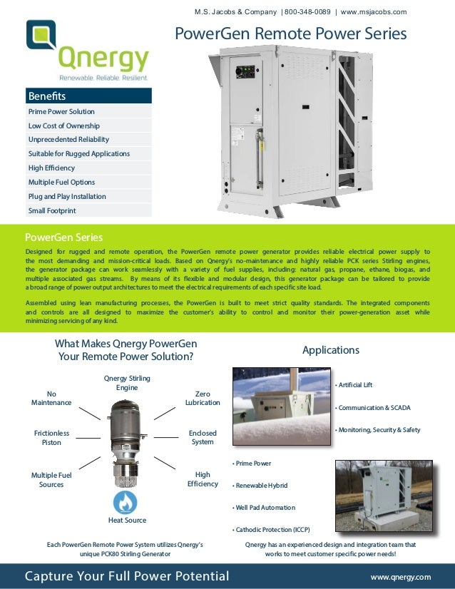 Designed for rugged and remote operation, the PowerGen remote power generator provides reliable electrical power supply to...