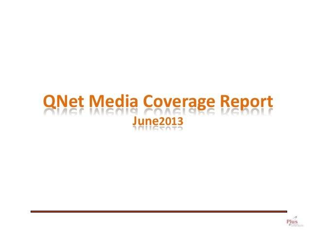 QNet Evaluation Report June2013