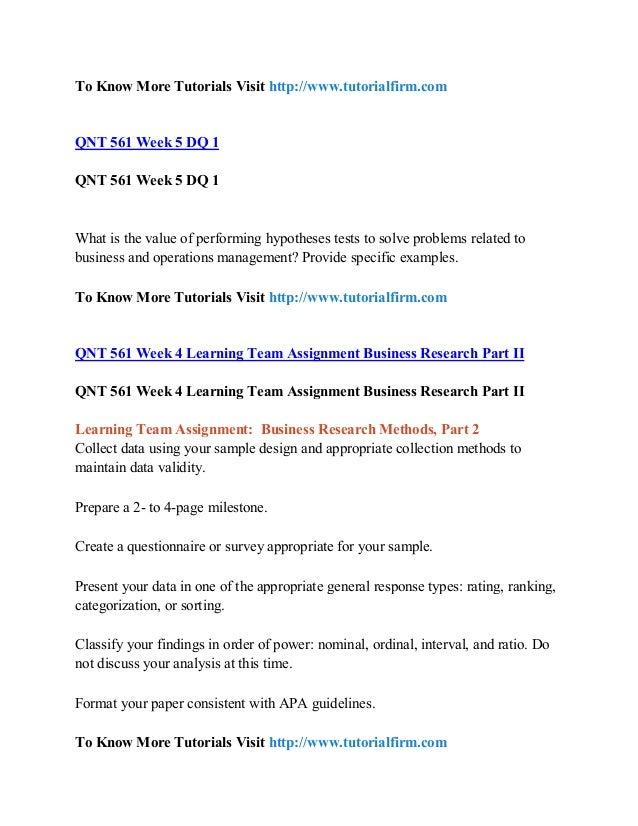 qnt 561 business research project part 2 literature review