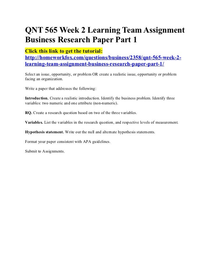 Parts of research paper in order