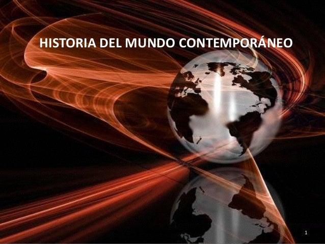 Historia del mundo contempor neo introducci n for Caracteristicas del contemporaneo