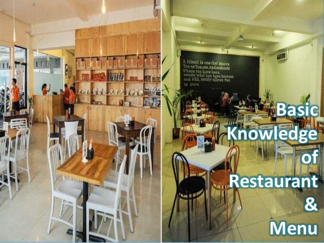 Basic Knowledge of Restaurant & Menu