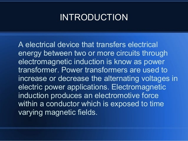 Power Transformer Parts And Functions Slide 2