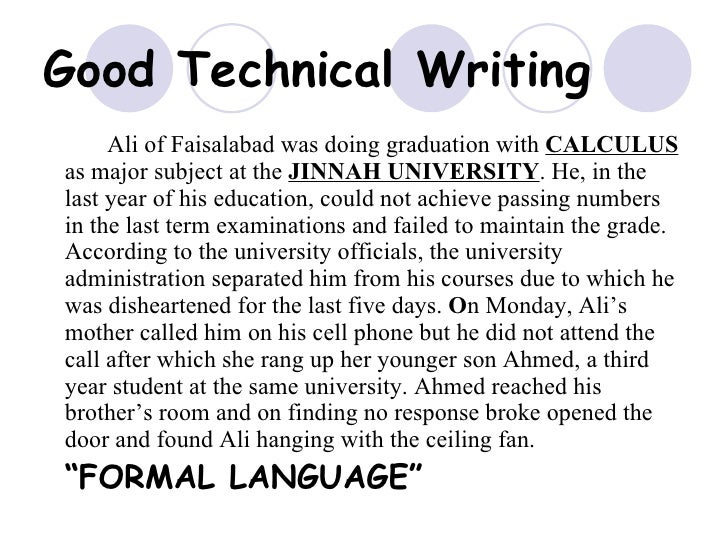 Technical Writing Example Idealstalist