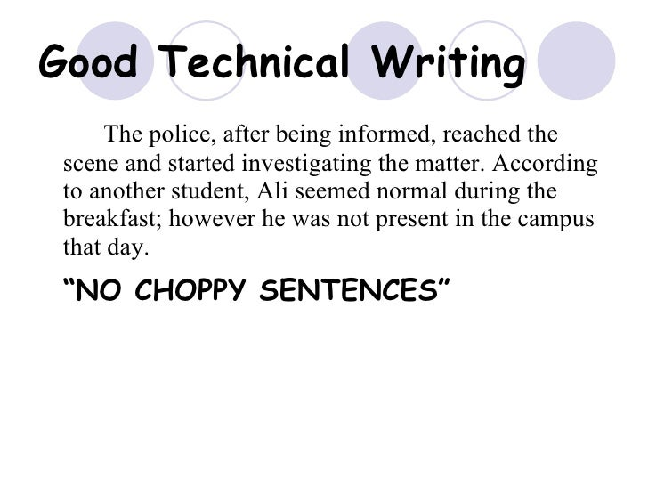 Good technical writing