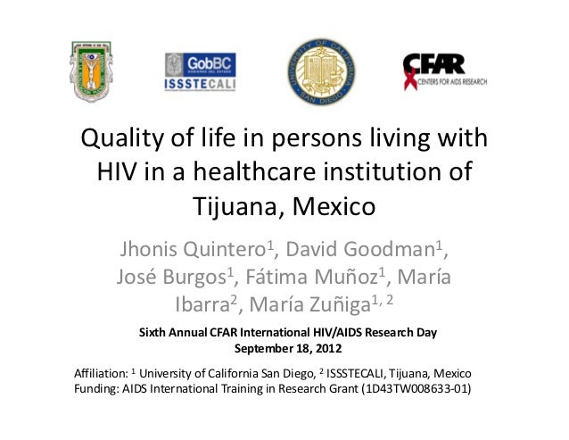 Qualityoflifeinpersonslivingwith  HIVinahealthcareinstitutionof           Tijuana,Mexico        JhonisQuint...