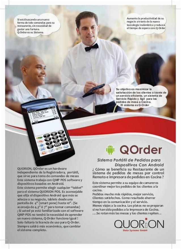 Aumente la productividad de su negocio a través de la nueva tecnología inalámbrica y reduzca el tiempo de espera con: Q-Or...