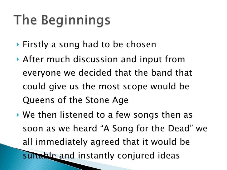 <ul><li>Firstly a song had to be chosen </li></ul><ul><li>After much discussion and input from everyone we decided that th...