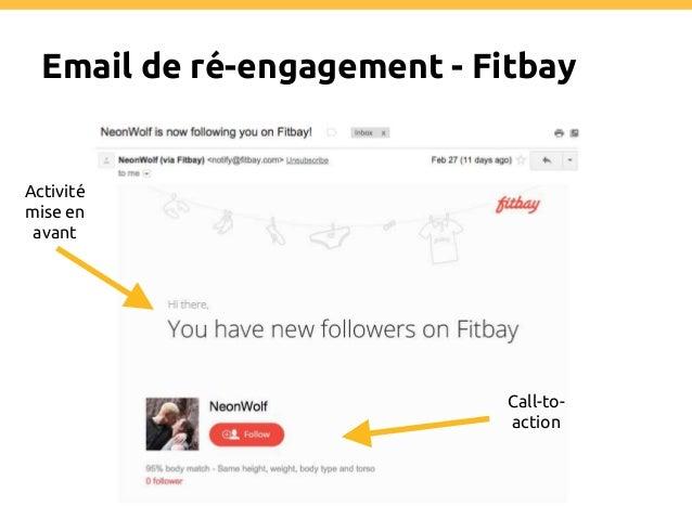 Win-back email - Eventbrite Vous nous manquez ! Pourquoi vous devriez revenir Call-to- action