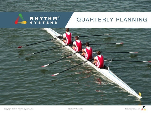 Copyright © 2017 Rhythm Systems, Inc. rhythmsystems.comRhythm® University QUARTERLY PLANNING