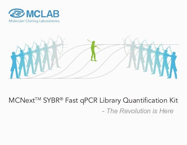 Molecular Cloning Laboratories MCNextTM SYBR® Fast qPCR Library Quantification Kit - The Revolution is Here Molecular Clon...