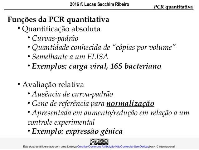 PCRPCR quantitativaquantitativa Funções da PCR quantitativa • Quantificação absoluta • Curvas-padrão • Quantidade conhecid...