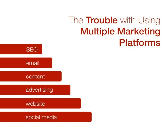 The Trouble with Using Multiple Marketing Platforms social media website advertising content email SEO