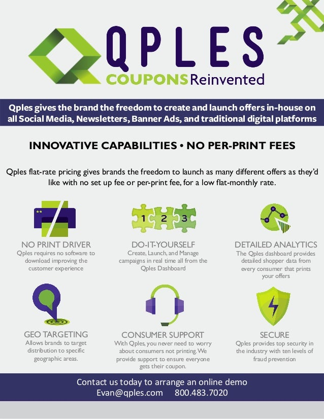 Qples gives the brand the freedom to create and launch offers in-house on all Social Media, Newsletters, Banner Ads, and t...