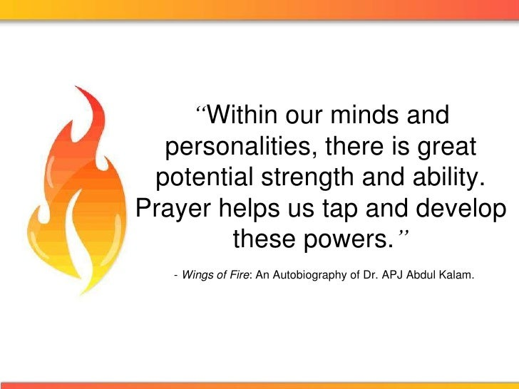 """""""Within our minds and personalities, there is great potential strength and ability. Prayer helps us tap and develop these ..."""