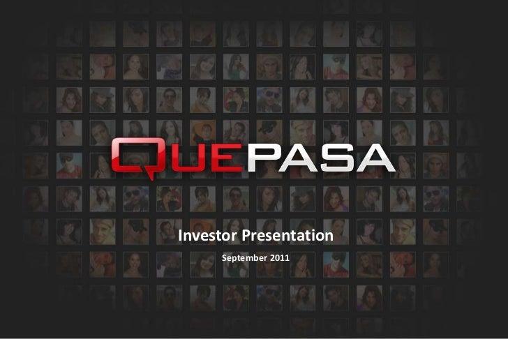 Investor Presentation<br />September 2011<br />