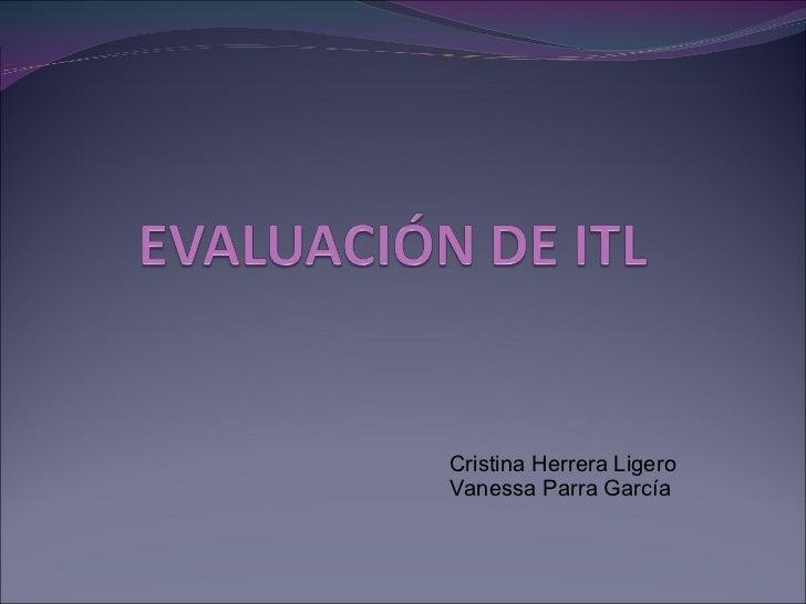 Cristina Herrera Ligero Vanessa Parra García