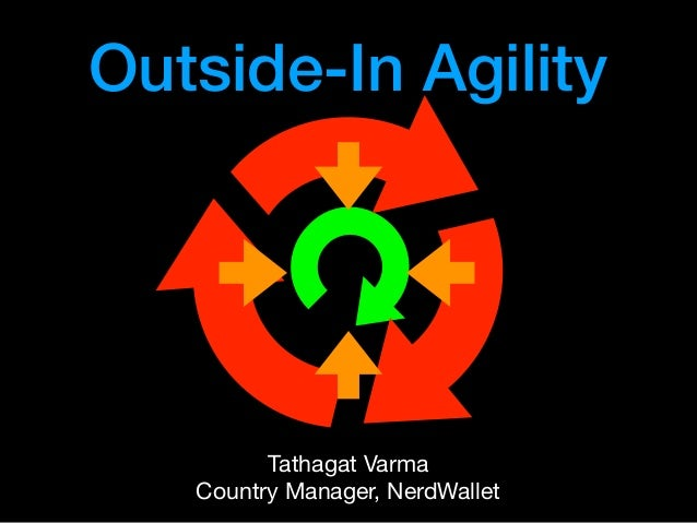 Outside-In Agility Tathagat Varma  Country Manager, NerdWallet