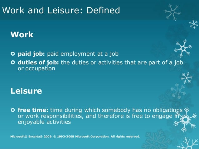 work leisure Regardless of what your problem is – whether it is a physical illness, a difficult relationship, a work situation, a financial crisis, a performance issue, the loss of a loved one, a severe injury, or a clinical disorder such as.