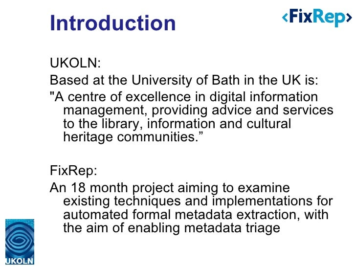 Supporting PDF accessibility evaluation: Early results from the FixRep project Slide 2